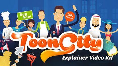 پروژه افترافکت ساخت تیزر تبلیغاتی ToonCity
