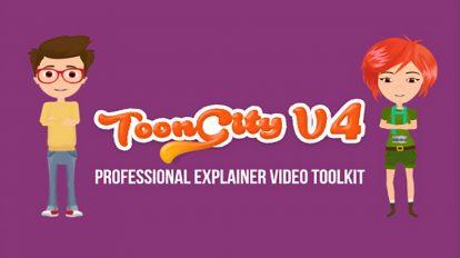 پروژه افترافکت ساخت تیزر تبلیغاتی ToonCity v4