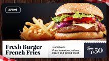پروژه افترافکت اسلایدشو تیزر تبلیغاتی غذا Food Slideshow