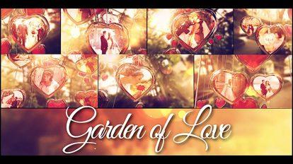 پروژه افترافکت روز عروسی در باغ عشق
