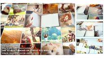 پروژه افترافکت نمایش تصاویر روی بلوک های موزاییک