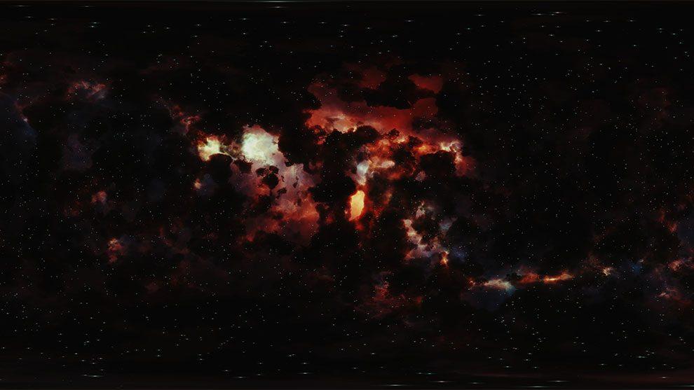 محیط HDRI فضای کهکشان Nebula