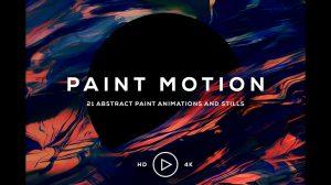 مجموعه 21 ویدیوی موشن گرافیک رنگ Paint Motion