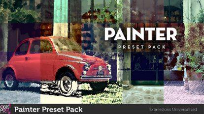مجموعه پریست افترافکت نقاشی Painter Presets Pack