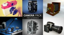 مجموعه مدل سه بعدی دوربین برای سینما فوردی
