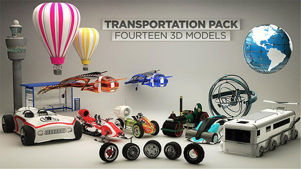 مجموعه مدل سه بعدی حمل و نقل برای سینما فوردی
