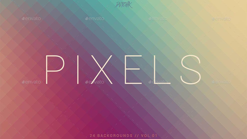 مجموعه 24 تصویر زمینه پیکسلی Pixel Pixelated