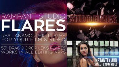 مجموعه فوتیج ویدیویی افکت نور Rampant Studio Flares