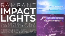 مجموعه فوتیج ویدیویی افکت نور Rampant Impact Lights