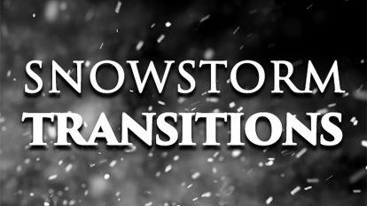 مجموعه ویدیوی موشن گرافیک ترانزیشن بارش طوفانی برف