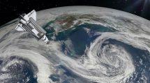 ویدیوی موشن گرافیک حرکت شاتل فضایی در اطراف زمین