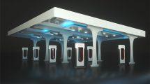 مدل سه بعدی ایستگاه شارژ الکتریکی خودروی تسلا برای سینما فوردی