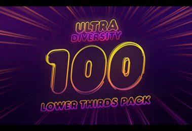 پروژه افترافکت 100 نوار عنوان Ultra Diversity Lower Thirds