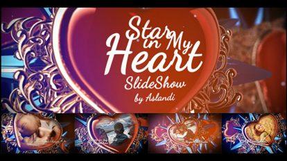 پروژه افترافکت اسلایدشو ستاره روز ولنتاین