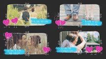 پروژه افترافکت اسلایدشو عاشقانه ولنتاین