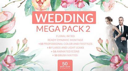 پروژه افترافکت عروسی Wedding Mega Pack 2