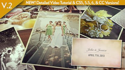 پروژه افترافکت اسلایدشو تصاویر عروسی