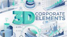 پروژه افترافکت اجزای اینفوگرافیک 3D Corporate Elements