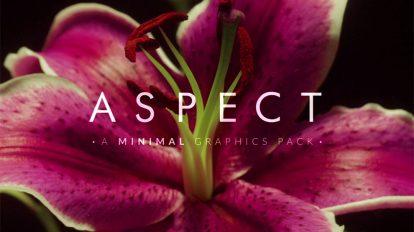 مجموعه ویدیوی موشن گرافیک اجزای مینیمال Aspect