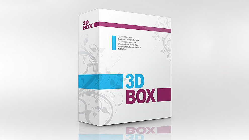 اکشن فتوشاپ ساخت جعبه سه بعدی Brilliant 3D Box
