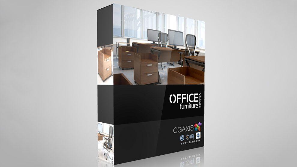 مجموعه مدل سه بعدی مبلمان اداری CGAxis Models Volume 11 Office