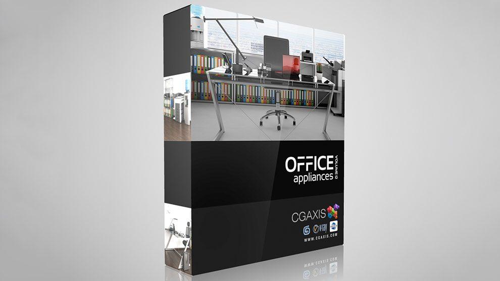 مجموعه مدل سه بعدی لوازم اداری CGAxis Models Volume 12 Office