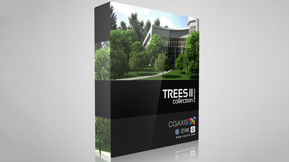 مجموعه مدل سه بعدی درخت CGAxis Models Volume 14 Trees II