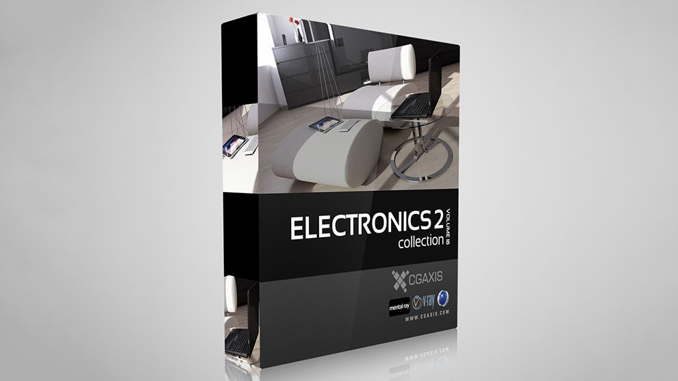 مجموعه مدل سه بعدی تجهیزات الکترونیکی CGAxis Models Volume 18 Electronics II