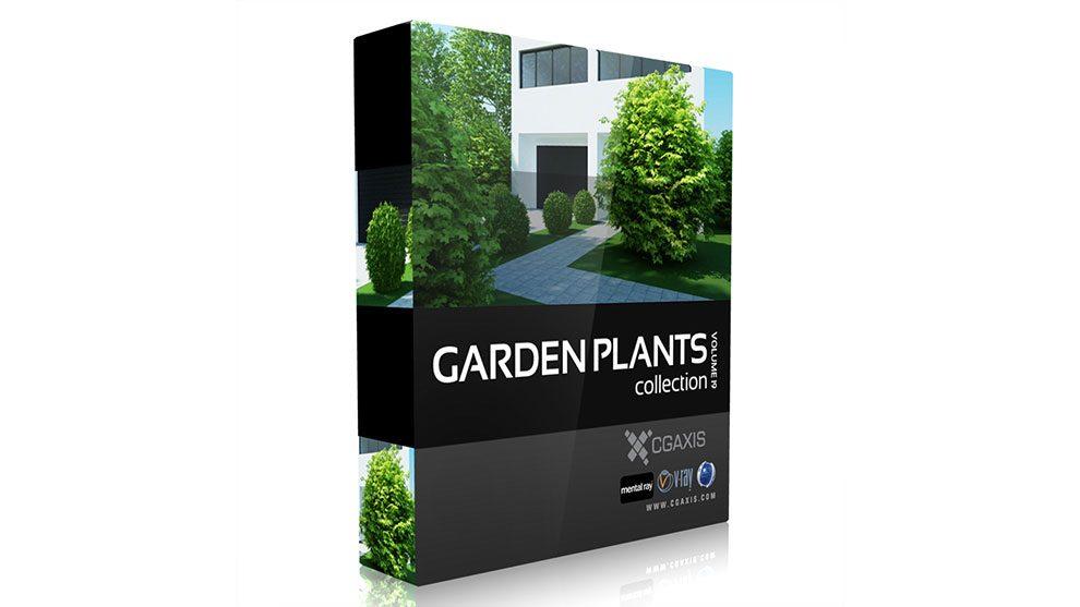 مجموعه مدل سه بعدی گیاهان باغچه CGAxis Models Volume 19 Garden Plants