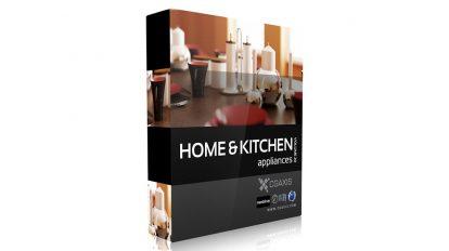 مجموعه مدل سه بعدی لوازم خانگی CGAxis Models Volume 20 Home & Kitchen