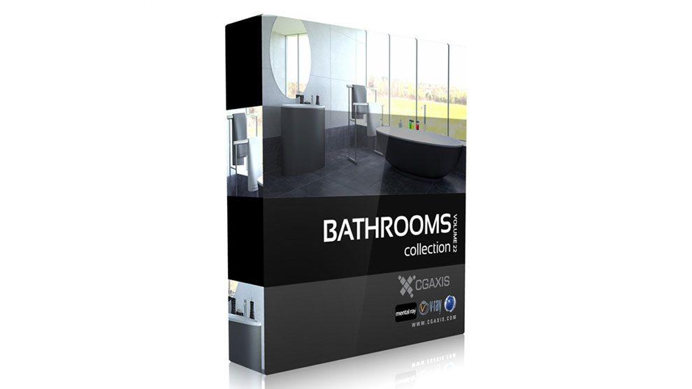 مجموعه مدل سه بعدی حمام CGAxis Models Volume 22 Bathrooms II