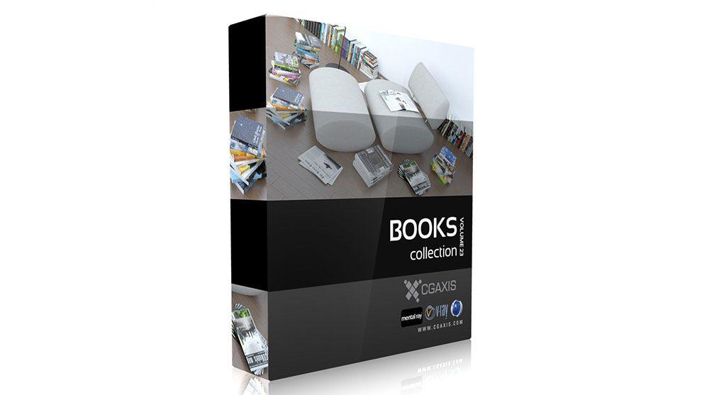 مجموعه مدل سه بعدی کتاب CGAxis Models Volume 23 Books