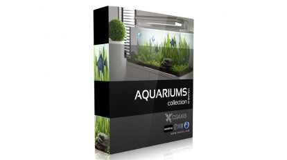 مجموعه مدل سه بعدی آکواریوم CGAxis Models Volume 24 Aquariums