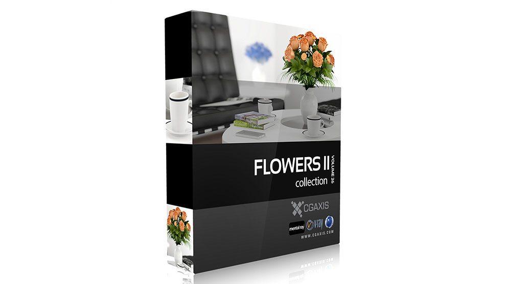 مجموعه مدل سه بعدی گل CGAxis Models Volume 26 Flowers II