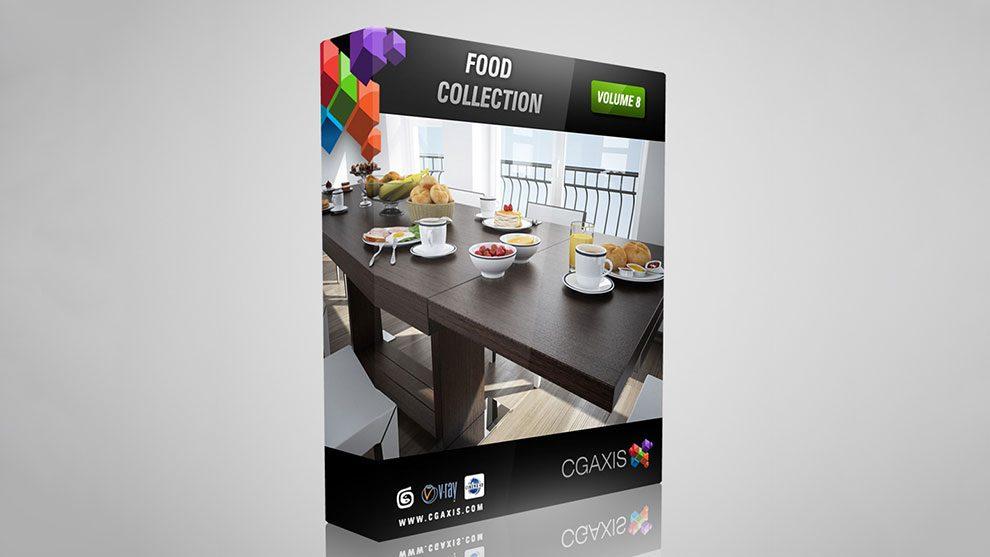 مجموعه مدل سه بعدی غذا CGAxis Models Volume 8 Food
