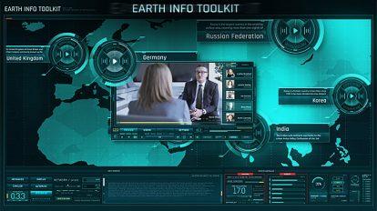 پروژه افترافکت نمایش اطلاعات روی نقشه زمین Earth Info Toolkit
