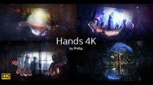 پروژه افترافکت اسلایدشو تکنولوژی Hands 4K
