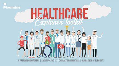 پروژه افترافکت ساخت تیزر تبلیغاتی بهداشتی و درمانی