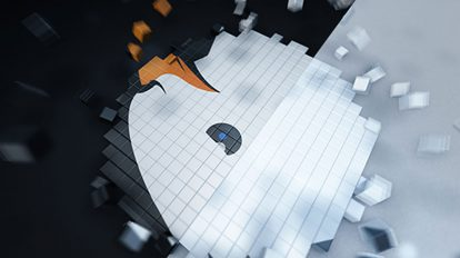پروژه افترافکت نمایش لوگو Pixel Cube Logo Reveal