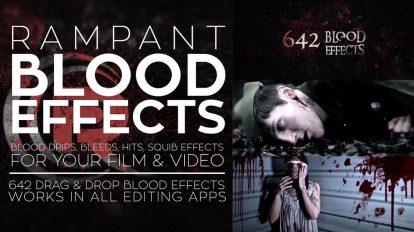 مجموعه فوتیج ویدیویی خون Rampant Design Blood Effects