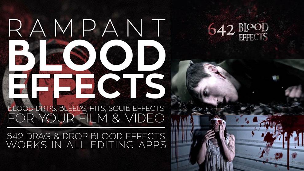 مجموعه فوتیج ویدیویی خون Rampant Design Blood Effects - مغزابزار