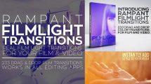 مجموعه فوتیج ویدیویی ترانزیشن نوری Rampant FilmLight Transitions