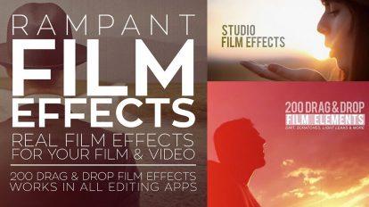 مجموعه فوتیج ویدیویی افکت فیلم Rampant Film Effects
