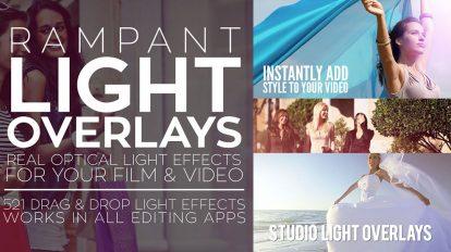مجموعه فوتیج ویدیویی پوشش نور Rampant Light Overlays