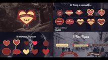 پروژه افترافکت افتتاحیه عاشقانه Romantic Badges