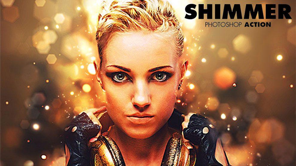 اکشن فتوشاپ سوسوی نور Shimmer Photoshop Action