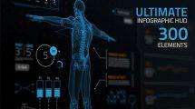 پروژه افترافکت اجزای جامع اینفوگرافیک Ultimate Infographic HUD