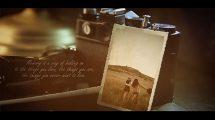 پروژه افترافکت اسلایدشو خاطرات قدیمی Vintage Lovely Memories