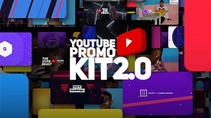 پروژه افترافکت ضروریات ویدیوی شبکه اجتماعی Youtube Promo Kit 2