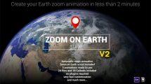 پروژه افترافکت بزرگنمایی روی زمین Zoom on Earth Suite v2